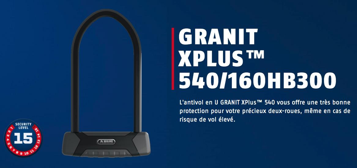 Antivol U Abus 540 Granit XPlus