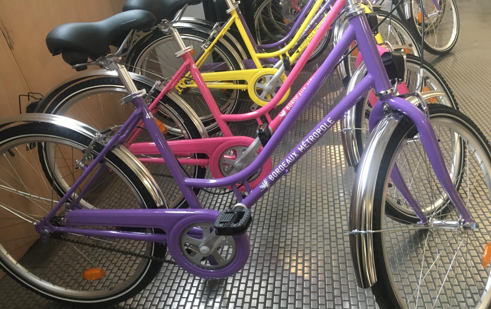 Prêt vélo ville Bordeaux