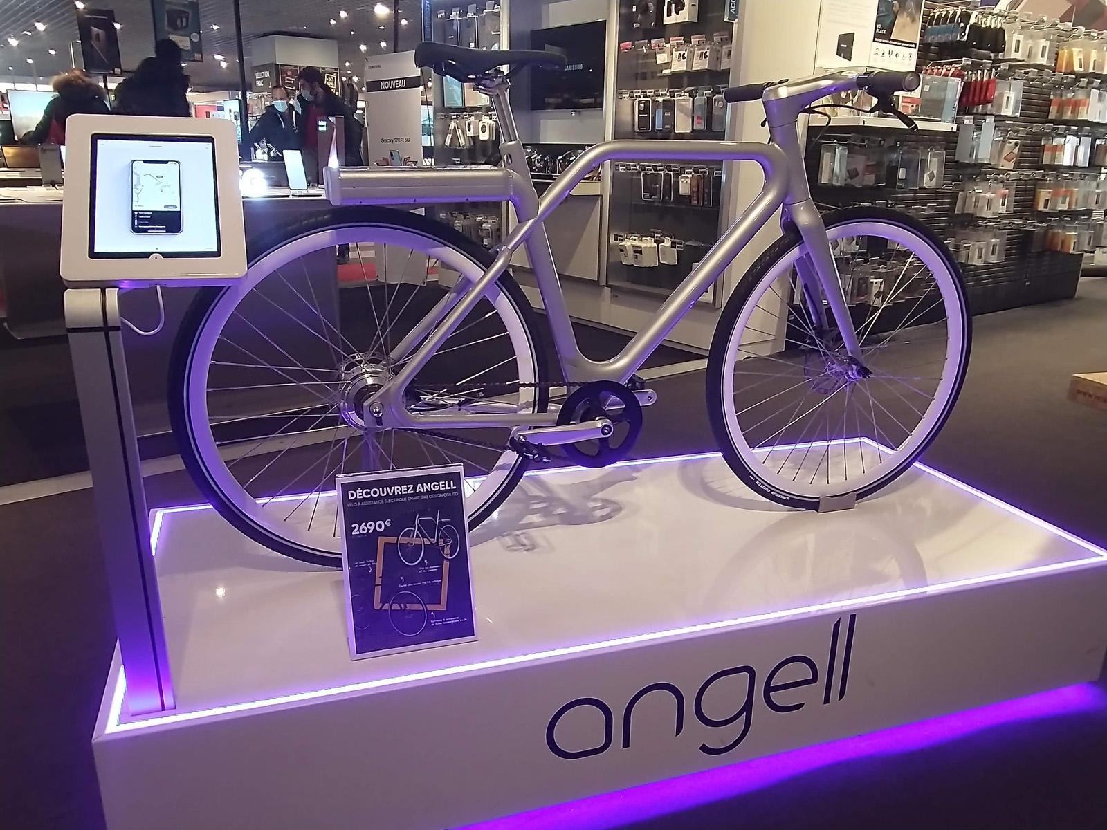 Le vélo Angell Bike est disponible à la Fnac de Bordeaux