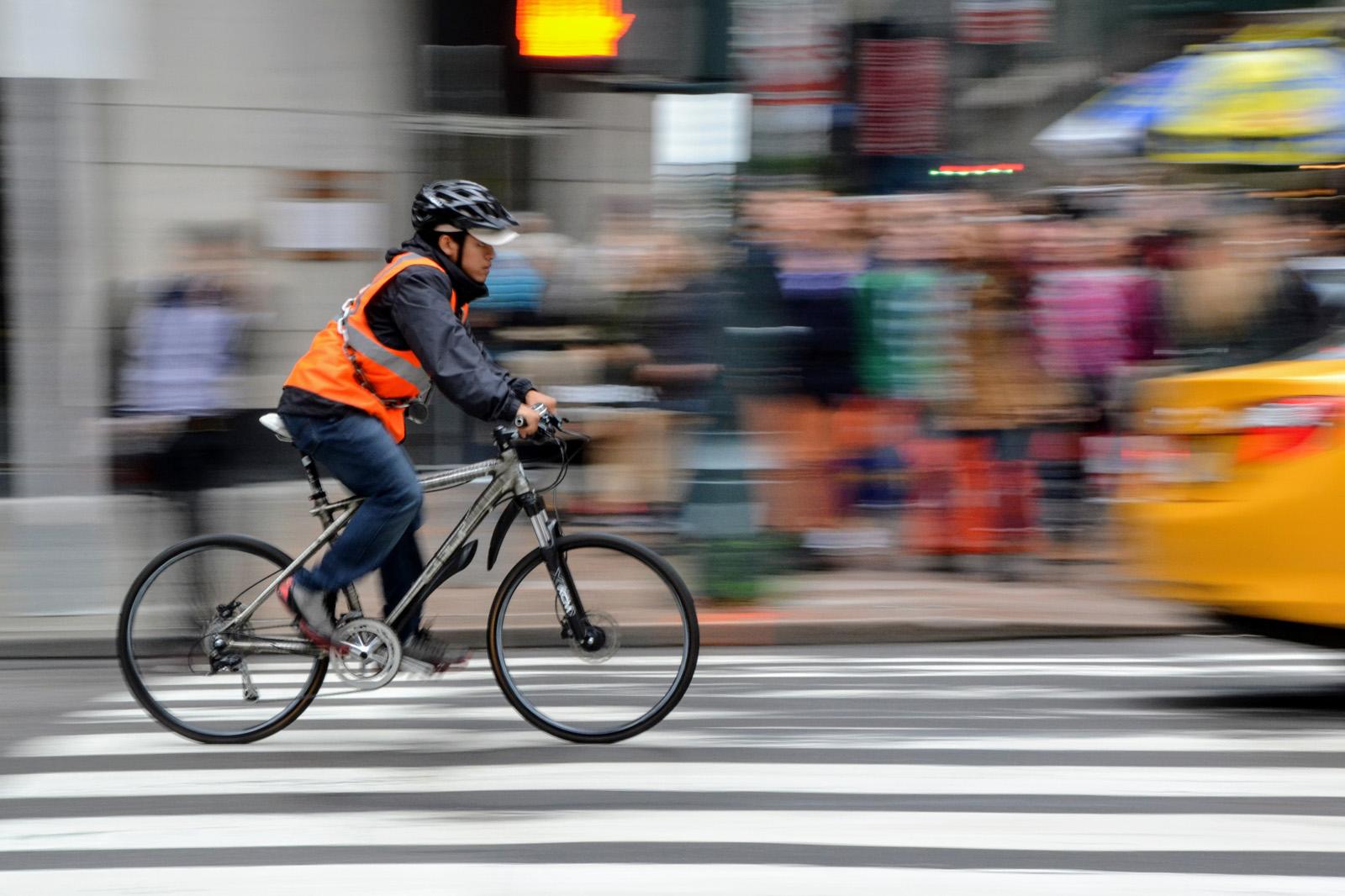 Gilet fluo vélo