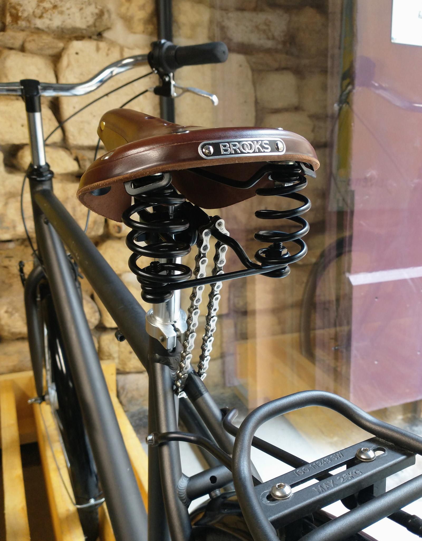 Antivol de selle en chaine de vélo
